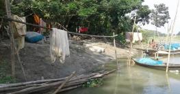 মাদারীপুরে কুমার নদের পাড়ে ফাটল, আতঙ্কে ৫০ পরিবার