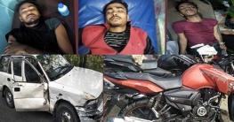সাতক্ষীরায় প্রাইভেটকার-মোটরসাইকেল সংঘর্ষে ৪ শিক্ষার্থী আহত