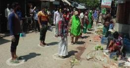 করোনা: যশোরের বউবাজারে সচেতনতার অভিনবপন্থা