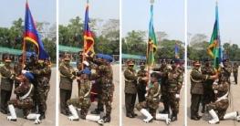 সেনাবাহিনীর চার ইউনিটকে রেজিমেন্টাল কালার প্রদান